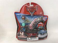 Disney Cars Cars 2 Series 1 Squinkies 4-Pack Mini Figures W/ Ramp Finn McMissle!