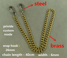 Stainless steel snap Hook with brass key chain Anti lost lanyard wallet Keychain