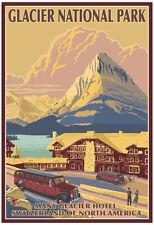 Many Glacier Hotel, Glacier National Park, Montana Poster Print, 13x19