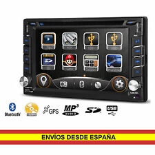 "Auto Radio CD DVD Coche Universal 2 din 6,2"" Gps Bluetooth usb TD619G"
