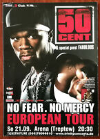 50 Cent, No Fear No Mercy European Tour Promotional Post Card