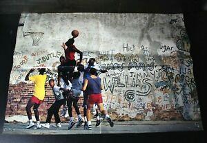 Vintage Michael Jordan Nike Wheaties Poster Graffiti Dunk Air Playground 1989