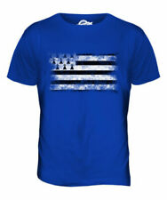 Bretagne Drapeau Délavé Hommes Haut T-Shirt Maillot Vêtement Cadeau Football