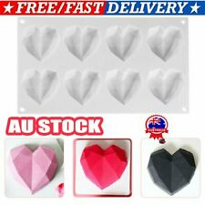 3D Diamond Heart Dessert Cake Mold Mousse Silicone Mould Chocolate DIY Tool  D7