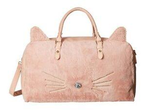 OMG! Accessories Kitty Kat Weekender Duffel Bag. NWT. Blush Pink.