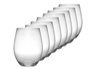 Riedel O Wine Tumbler Viognier/Chardonnay/Merlot stemless wine glasses- Set of 8