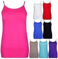 Women's Strappy, Spaghetti Strap No Pattern Stretch Casual Tops & Shirts