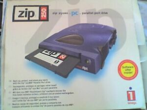 IOMEGA 250Mb ZIP Drive , External , Parallel , 1 Disk , in box - NOS