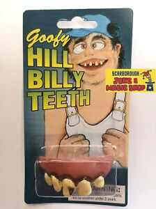 Goofy Hillbilly Teeth~Ugly Fake False Dentures ~ Funny Joke Novelty Hill Billy