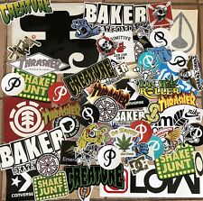 20 Skateboard Sticker Pack Authentic Zero Flip Toy Machine Obey Globe Mystery DC