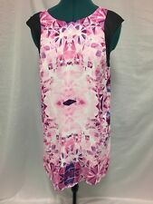 Paradisco shift dress size 10 in Pink purple and black