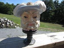 Ceramic Head Vase Nativity Christmas Wise Man One Of Three Wise Men Feather Cap