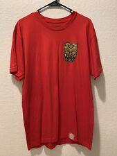 Men's Farmers Market Hawaii Red Gold Short Sleeve T-Shirt Size Large EUC