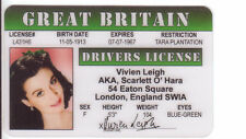Vivien Leigh GONE WITH THE WIND plastic  collector card Drivers License