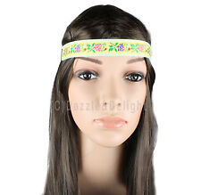 HEAD BAND HEAD WRAP STRETCHY ELASTIC FLORAL LACE SEQUIN HIPPY BOHO FESTIVAL COOL