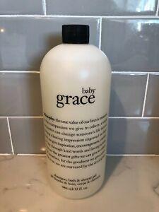 PHILOSOPHY BABY GRACE  SHAMPOO SHOWER GEL BATH ~ HUGE ~ 32 OZ SEALED! NO PUMP