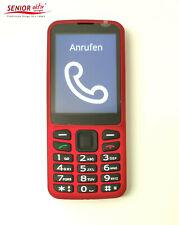 BlindShell sprechendes Großtasten Senioren Handy Rot mit Sprachausgabe f. Blinde