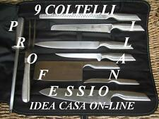 BAVARIA SET 9 COLTELLI PROFESSIONALI DA CHEF ACCIAIO INOX 18/10 IN SUPER OFFERTA