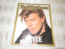1987 David Bowie Cover Rolling Stone Magazine 20th Anniv Special STYLE