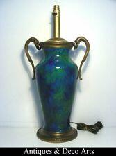 Lampe Paul Millet Céramique de Sèvres Bleu-Turquoise Monture en Bronze H:56cm