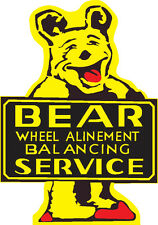 Bear Wheel Alinement Service Plasma Cut Metal Sign