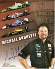 2005 MICHAEL ANDRETTI signed INDIANAPOLIS 500 HERO PHOTO CARD POSTCARD INDY CAR
