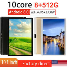 10.1Inch Android 8.0 Ten Core HD Game Tablet Computer PC Wifi Dual Camera 8+512G