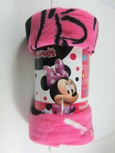 "Disney Junior Minnie Mouse 46"" x 60"" Super Plush Throw-NEW"