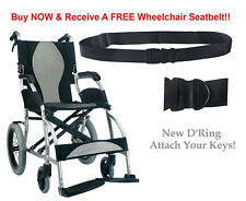 Karman S-2501 Ergonomic Ultra Lightweight Transport Wheelchairs S-2501F18SS-TP