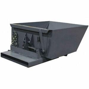 Zoro Select 2555Lpgray Self-Dumping Hopper,6.8 Cu. Ft. Cap.