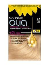Garnier Olia 9.3 GOLDEN LIGHT BLONDE Hair DYE Colour GREAT GREY COVERAGE UK NEW