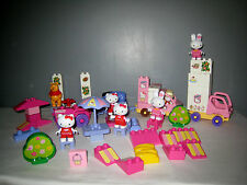 Lot Mega Bloks -  Hello Kitty glaces -Figurines+  Voitures