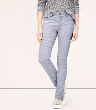 LOFT Modern High Waist Skinny Ankle Jeans Pants in Periwinkle Various Sizes