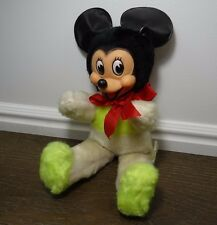 Vintage Mickey Mouse Plush Toy Rubber Face Walt Disney Gund