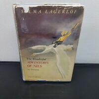 The Wonderful Adventures Of Nils Selma Lagerlof 1947 Illustrated HC DJ