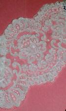 Vintage Alencon Bridal Yoke Lace Trim Ivory LA487V Buy any 3 Trims Get 1-FREE