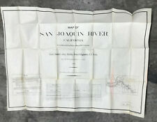 60th Congress #1124 -- 1908 Survey San Joaquin River -- 18 Large Folding Maps