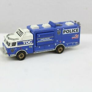 Matchbox E-One Mobile Command Center State Police Real Working Rig Blue White
