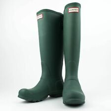 NIB HUNTER Hunter Green Original Tall Back Adjustable Rain Boots US 6 UK 4 EU 37