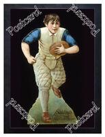 Historic Spalding Sporting Goods- Football Advertising Postcard