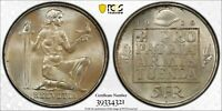 PCGS MS-66 SWITZERLAND SILVER 5 FRANCS 1936 (ARMAMENT FUND) DEEPLY TONED GEM!