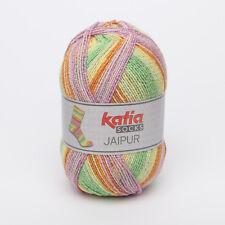100g JAIPUR SOCKS KATIA Sockenwolle 4-fach FARBVERLAUF 51 Wolle Socken ähn REGIA