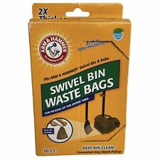 Arm & Hammer Swivel Bin Waste Bags, 20 Count, 1 Pack Dog NEW