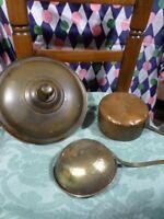 lot=3piéces    ancien cuivre ,déco cuisine vintage