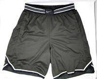 33a2bbc6207 NWT Nike AeroSwift Basketball Shorts Men's Large Sequoia Black & White NEW