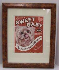 Framed Retro Pets Yorkshire Terrier print Krista Brooks