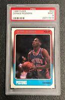 Detroit Pistons Dennis Rodman 1988 Fleer #43 PSA 9 Mint Rookie Card Rc