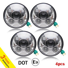 4pcs 5-3/4 Inch LED Headlights Upgrade Exterior Projector light For Ford/Mercury