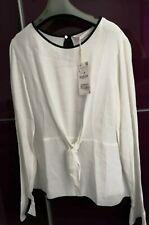 Zara Woman White Blouse Top Shirt Size L -12 BNW