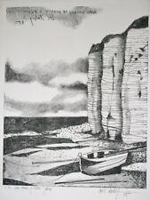 DUBIGEON Loic - Lithographie originale signée - Falaise